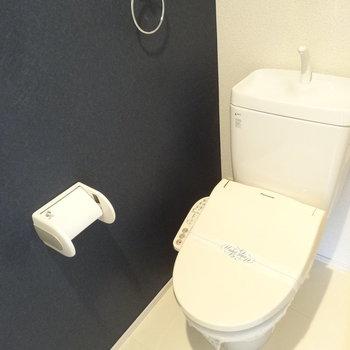 トイレはウォシュレット完備です。※写真は別室反転です