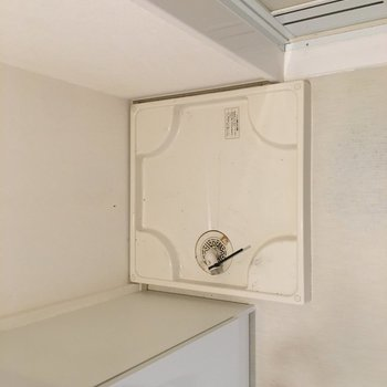 洗濯機置場は洗面台の横に。