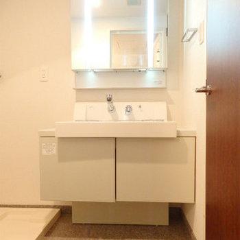 洗面台も立派な立派な※写真は同間取り別部屋のものです。
