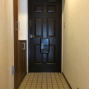 玄関はお部屋側から見てもシックでかっこいい。
