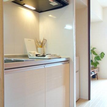 キッチン横に冷蔵庫置けますよ。