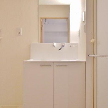 大きくて使い易い洗面台。※写真は同タイプの別室です。
