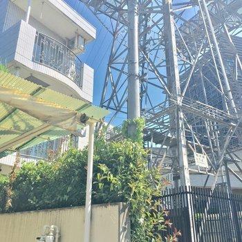 マンションのすぐお隣には大きな鉄塔