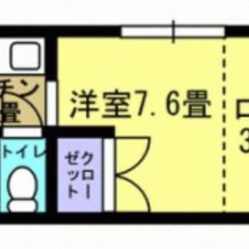 ロフト付きの1Kです。屋根裏的空間があるっていいな。