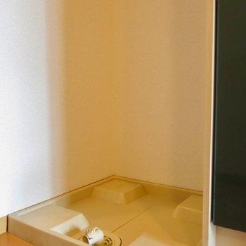 室内に洗濯機置けます。※写真は同間取り別部屋のものです。