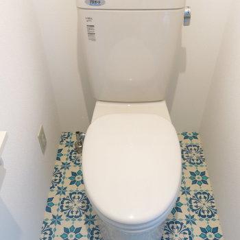 トイレも可愛くないとね!