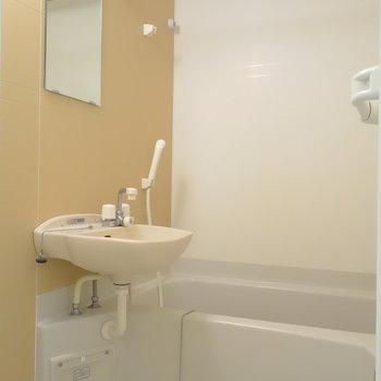 お風呂の壁もアクセント。