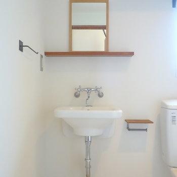 独立洗面台あります。  ※写真は前回募集時のものです
