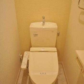 トイレもピカピカ♪※写真は同タイプの別室