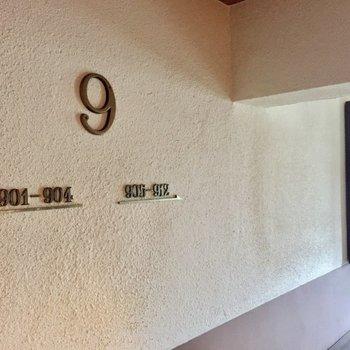 9階のご案内、かっこいい、、