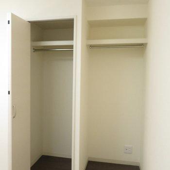 収納2.どっちも大きい※写真は反転間取り別部屋のものです。