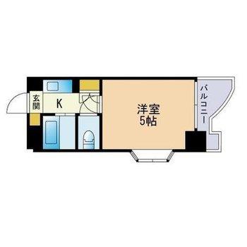 おひとり様向けでコンパクト(※キッチン横の収納スペースは洗濯機置場に変更済です)