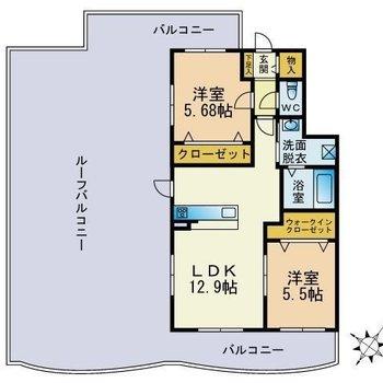 お部屋と同じくらい広いんです
