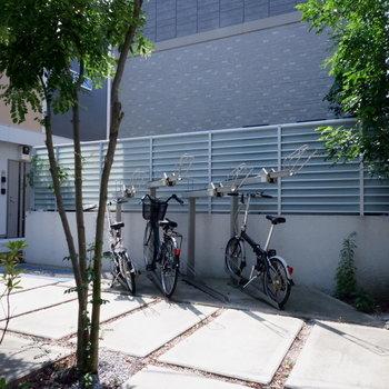 駐輪場はコチラです。オートロック内にあり安心。