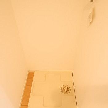 室内に洗濯機置場。