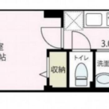 2階の1Kです。