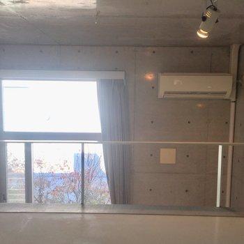 ロフト上もしっかり日が入りますよ♪※同階同間取りの別部屋の写真です