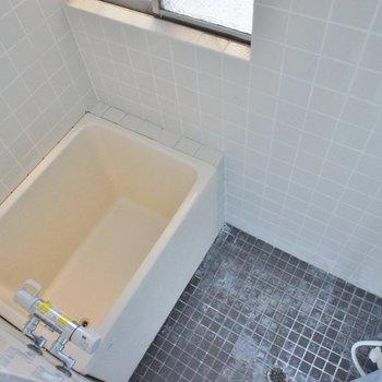 お風呂は昭和感あふれるコンパクト型