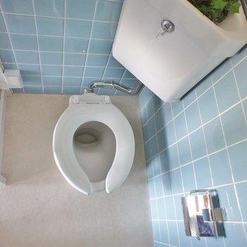 トイレの蓋がない~