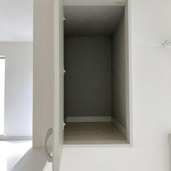 こんなところにも収納スペースが!