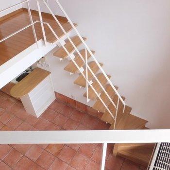 下を見下ろすとこんな感じ※1階の同間取り別部屋の写真です