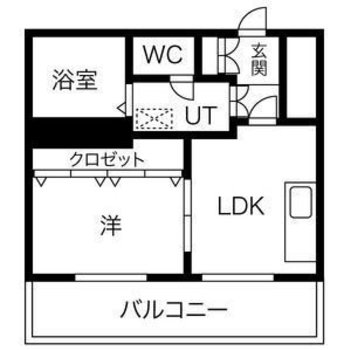 真四角!バルコニー大きい〜!