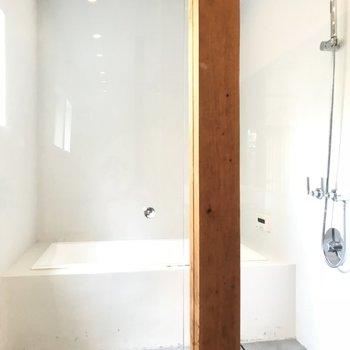 お風呂はあそこに