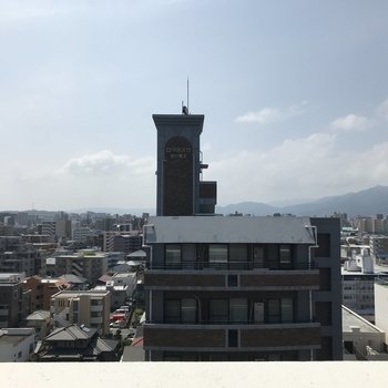 10階からの眺め、とっても清々しい〜!