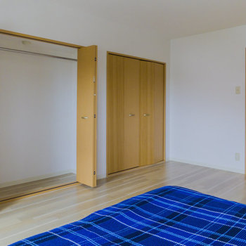 【SR】大容量のクローゼットが二個ございます。※家具はサンプルです