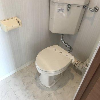 トイレは昔ながらの形
