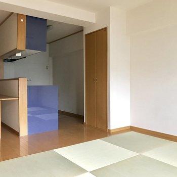 キッチンスペースが分けられているから生活動線が確保しやすい。