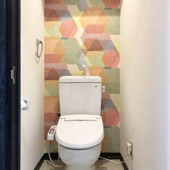 可愛いトイレ♡ちゃんとウォシュレット付っ