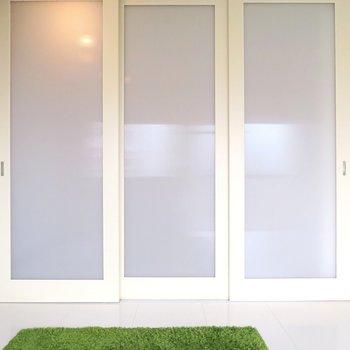 可動式のドアで