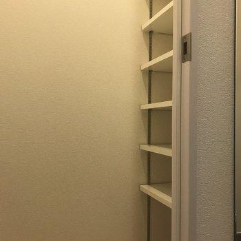 シューズクロークにはスーツケースも収納できます◎(※写真は13階の反転間取り別部屋のものです)