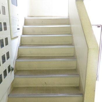 階段で鍛えましょう!