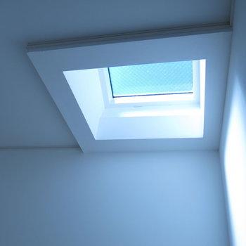 階段上には天窓が!