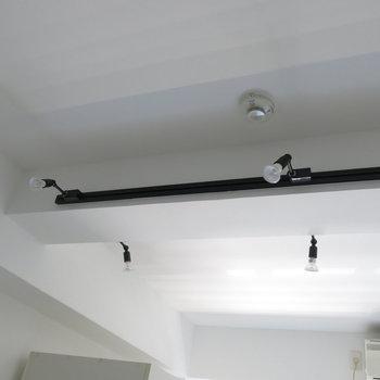 天井のライティングレールがカッコイイ!※写真は同間取り別部屋のものです。