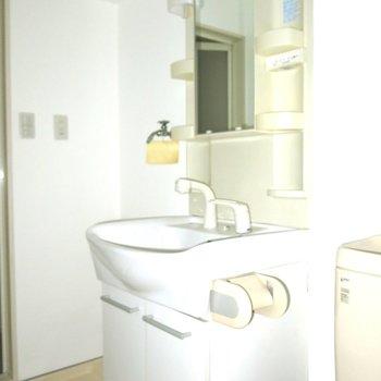 洗面台はトイレ横!◎※写真は同間取り別部屋のものです。