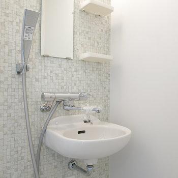 洗面台とシャワーは一体型!