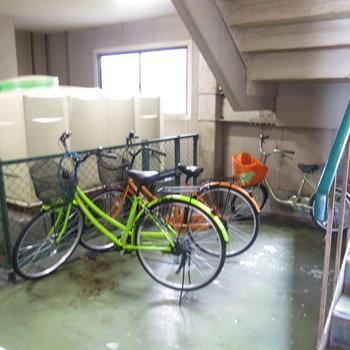 自転車はこちらへ!