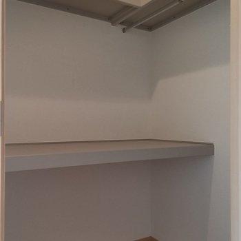 ウォークインは結構ゆとりありますね。※写真は2階の同じ間取りの別部屋です。