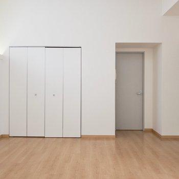 クローゼットだと思ってたけど、扉を開けるとキッチン