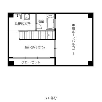 2階は寝室と水回り、ルーフバルコニーです。