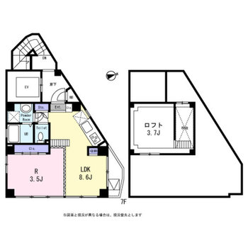 1フロアに1部屋。贅沢な角部屋なのだ!