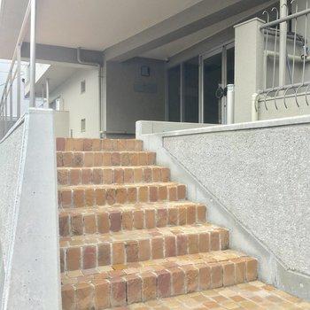 エントランス前のこの階段、お気に入り!