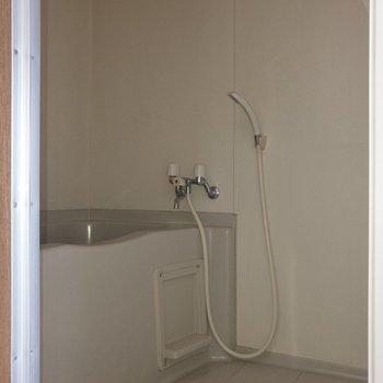 シンプルな浴室。鏡はありません。