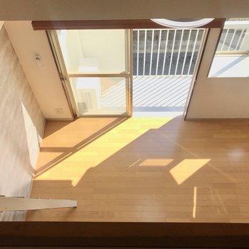 ロフトからの眺め。※写真は2階の同間取り別部屋のものです。