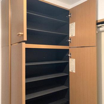 そして上段。どれだけ靴しまえるのだろうか。※写真は2階の同間取り別部屋のものです