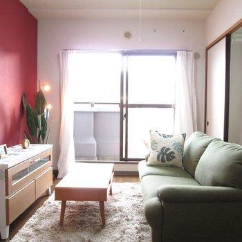 ソファーなど置いてくつろげますね〜※写真はモデルルームになります