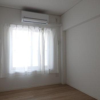 4帖といっても充分です!※写真はB棟の1階同じ間取り別部屋のものです。